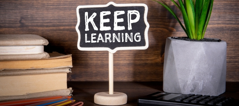 keep learning stand